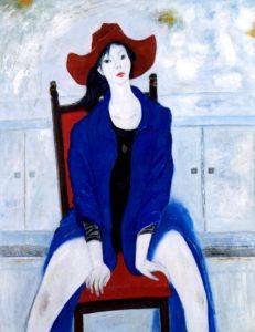 「青衣」 F50, 2008年